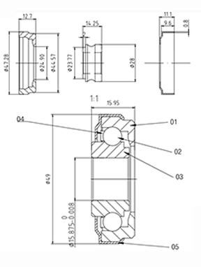 Bearing No.GRB238